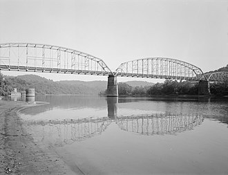 Monessen, Pennsylvania - The old Charleroi-Monessen Bridge