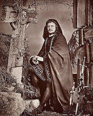 Charles Fechter - Charles Fechter as Hamlet, 1872.