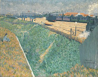 Charles Angrand - The Western Railway at its Exit from Paris, 1886, oil on canvas, 73 x 92 cm