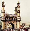 Charminar- a view from Mecca Masjid.JPG