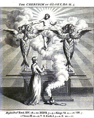 Julius Bate - Cherubim, illustration from Bate's A new and literal translation, from the Hebrew, of the Pentateuch of Moses, and of the historical books of the Old Testament, to the end of the second book of Kings (1773).