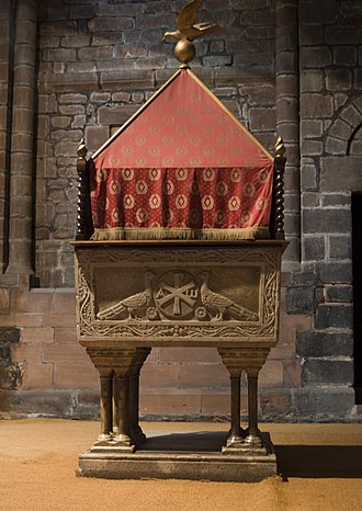 Chester Cathedral - The font at the end of the north aisle