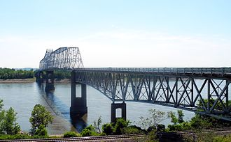 Chester Bridge - Image: Chester IL Mississippi River bridge 3324