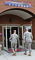Chief of Staff of the U.S. Army Gen. Raymond T. Odierno, right, walks into the 7th Infantry Division headquarters with Maj. Gen. Stephen R. Lanza, 7th Inf 130626-A-IP604-391.jpg