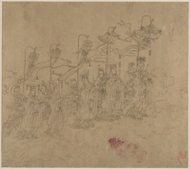Album of Daoist and Buddhist Themes: Procession of Daoist Deities: Leaf 5