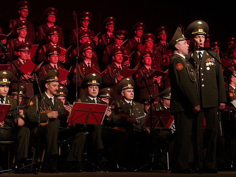 Mosca, memoriale fuori della sede del Coro dell'Armata Rossa