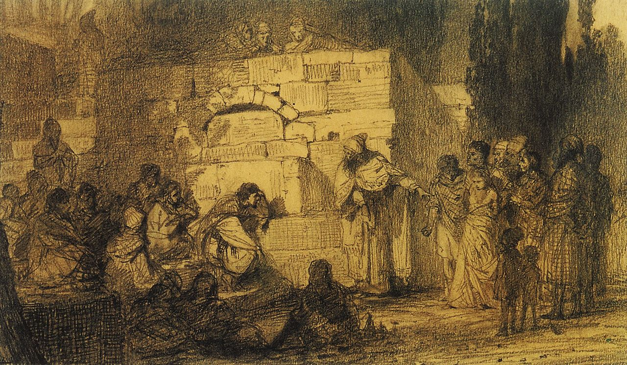 Christ and the woman taken in adultery Study 1873 grm.jpg