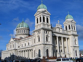 Cathedral of the Blessed Sacrament, Christchurch - Cathedral of the Blessed Sacrament, Christchurch (pictured in 2005), F. W. Petre's largest completed work (1905). The central pediment is in the style of Sebastiano Serlio