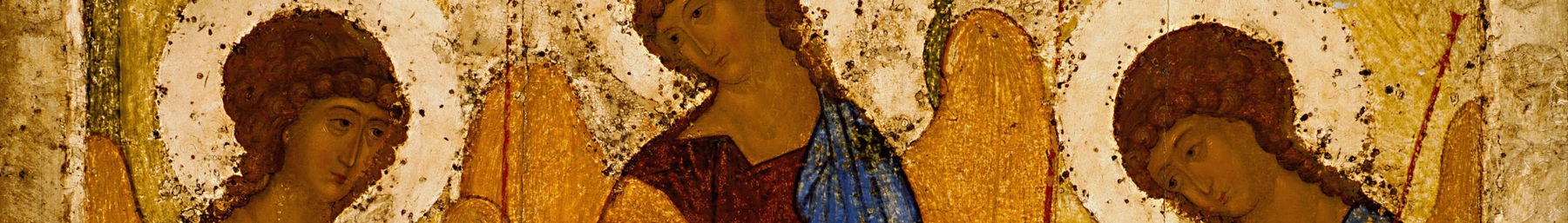 The Holy Trinity, by the 14th Century Russian master, Andrei Rublev