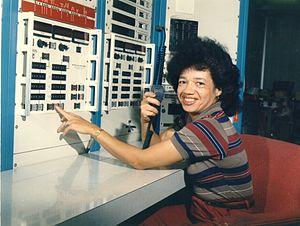 Christine Darden - Dr. Christine Darden in Langley's Unitary Plan Wind Tunnel in 1975. Credit: NASA