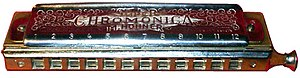George Toogood Smith - Hohner Super Chromonica, a typical 12-hole chromatic harmonica, sometimes called a mouth organ, which Smith gave to Lennon