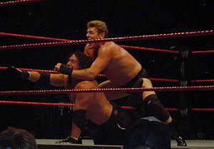 Chuck Palumbo - William Regal (top) and Chuck Palumbo competing at a Raw house show in 2007.