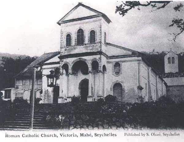 Church Victoria Seychelles 1900s