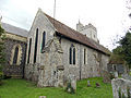 Church of the Holy Cross, Goodnestone - north aisle from north-east 02.jpg
