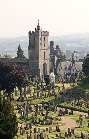Church of the Holy Rude - A view from Stirling Castle