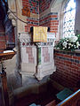 Church of the Holy Trinity - pulpit - East Grimstead, Wiltshire, England.jpg