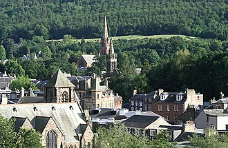 Galashiels - Image: Church spires in Galashiels geograph.org.uk 717309