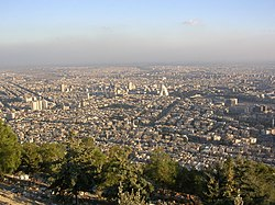 City of Damascus pictured from Mt Qasioun