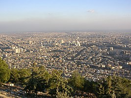 City of Damascus pictured from Mt Qasioun.jpg