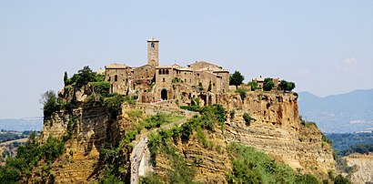 Como chegar até Civita di Bagnoregio em Bagnoregio de Ônibus ou Trem ...