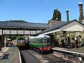 Class 109 & 108 DMU-Railcars at Llangollen Station, Llangollen Railway (7882482004).jpg
