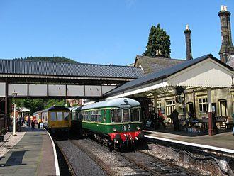 Llangollen Railway - Image: Class 109 & 108 DMU Railcars at Llangollen Station, Llangollen Railway (7882482004)