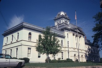 Cleburne County, Alabama - Cleburne County Courthouse in March 1980.