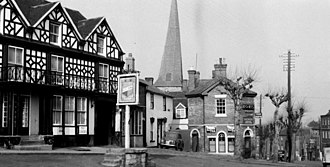 Cleobury Mortimer - The centre of Cleobury in 1950.
