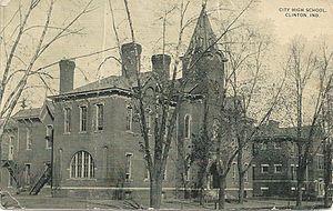 Clinton High School, Indiana - Old Clinton High School Building 1886-1919
