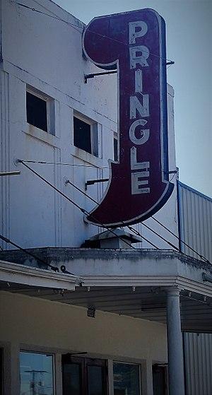 Glenmora, Louisiana - The since closed Pringle Theatre, an Art Deco structure in Glenmora, seated six hundred.