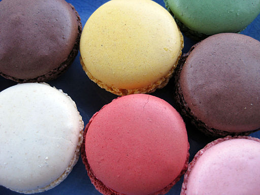 Closeup of macarons, August 2009
