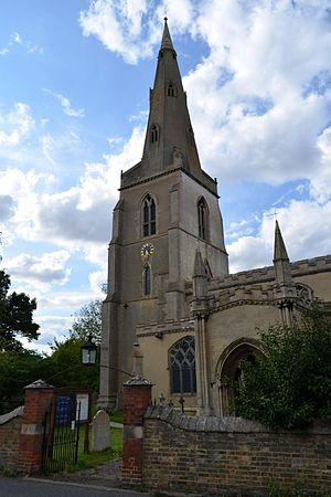 Over, Cambridgeshire - St Mary's Church, Over in July 2014