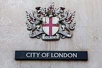 Coats of arms of the City of London Corporation, London, England, IMG 5208 edit.jpg