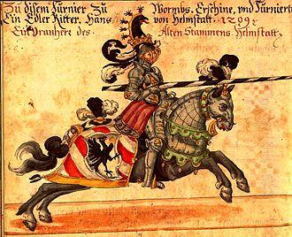 Thurnierbuch - illustration from Codex Rossianus 711, a 1615 manuscript copy of the Thurnierbuch.