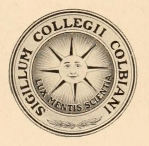 Seal of Colby College - The Colby College Seal, c. 1899, reflecting the college's new name
