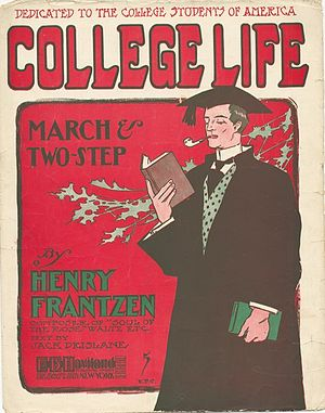 """College Life"" sheet music cover, 1905"