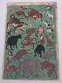 Color woodblock print for children who collected animals, 1863 AD - Edo-Tokyo Museum - Sumida, Tokyo, Japan - DSC06707.jpg