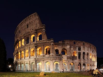 Colosseum at night - wide angle.JPG