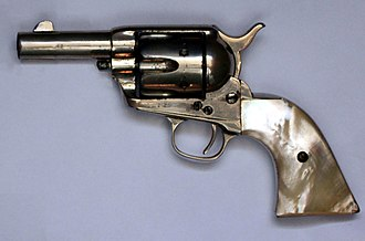 "Snubnosed revolver - Colt Single Action Army ""Sheriff's Model"" snubnosed revolver"