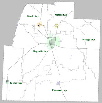 Columbia County, Arkansas - Townships in Columbia County, Arkansas as of 2010