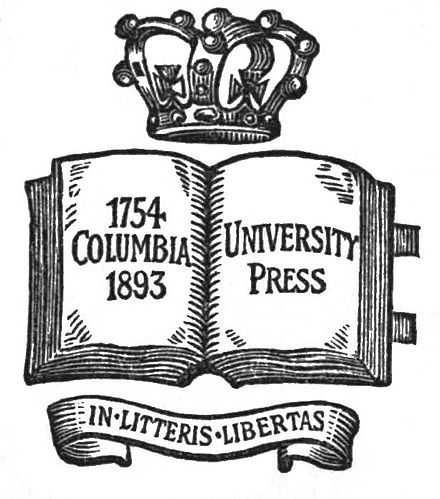 One of the earliest logos of Columbia University Press Columbia University Press logo (from Gloria D'Amor).jpg