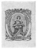 Columbia University Teachers College Bryson Library bookplate.png
