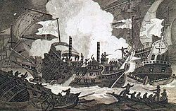 La Invencible Inglesa (1585-1604) 250px-Combat_du_Revenge