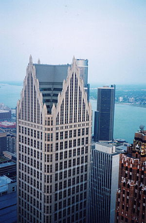 John Burgee - Comerica Tower in Detroit.