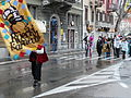 Commencement of Rijeka Carnival procession (head team) Quen & Baron (in white) of Carnival.JPG