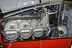 Continental O-470-13 engine, in a Beech T-34A Mentor aircraft - Oregon Air and Space Museum - Eugene, Oregon - DSC09768.jpg