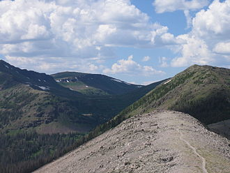 Weminuche Wilderness - Image: Continental divide trail in Weminuche Wilderness