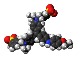 Coomassie Brilliant Blue - Image: Coomassie Brilliant Blue zwitterion 3D spacefill