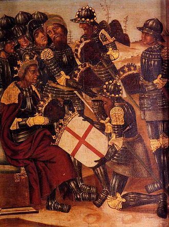 Peter I of Aragon and Pamplona - Image: Creu Alcoraz 1524 Jeronimo Martinez Retablo San Jorge.Salvador Merce Teruel