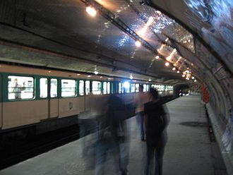 Ghost stations of the Paris Métro - The station Croix-Rouge, an old terminus of line 10, has been closed since 1939.